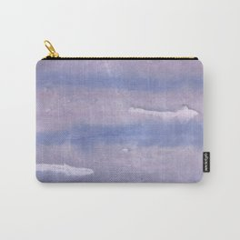 Purple Blue abstract watercolor pattern Carry-All Pouch