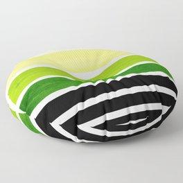Sap Green Minimalist Mid Century Staggered Stripes Rothko Color Block Geometric Art Floor Pillow