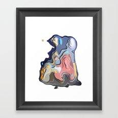 Little pervert  kissing the lady s nipple Framed Art Print
