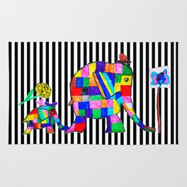 Elephant Festival |Family Walk | #society6 Rug