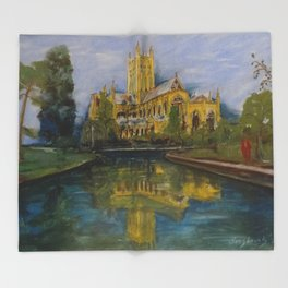 City of Wells in Somerset - Cathedral Throw Blanket