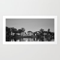 Houses on the River Art Print
