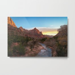 THE WATCHMAN ZION SUNSET NATIONAL PARK UTAH PHOTOGRAPHY Metal Print