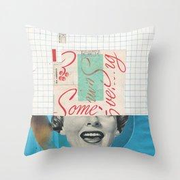 Ew Some Blue Throw Pillow