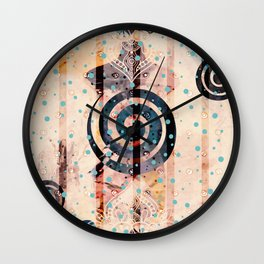 Boho Swirls Wall Clock