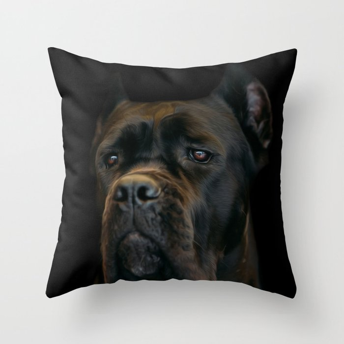 Cane Corso Italian Mastiff Throw Pillow By K9printart Society6