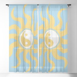 Yin yang sunshine Sheer Curtain