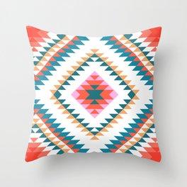 Aztec Rug 2 Throw Pillow