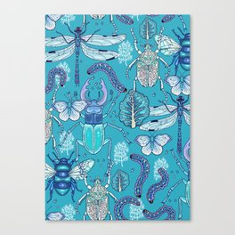 blue bugs Canvas Print