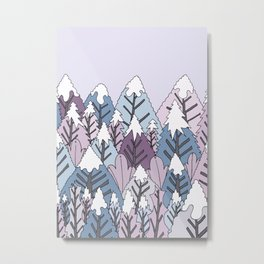 A cold winter's forest Metal Print