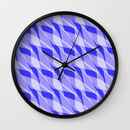 Blue Tropical Peel Wall Clock