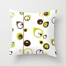 Zombie Matt in the Vines & Leaves Throw Pillow