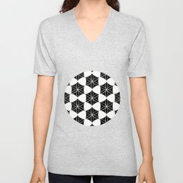 Flower of Life-Moroccan mosaic Unisex V-Neck