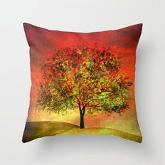 Tree at Sunset Throw Pillow