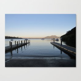 Sunset at Lake Taupo Canvas Print