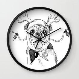 Jingle Pug Wall Clock