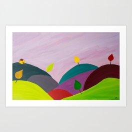 Ayrshire Hills Art Print