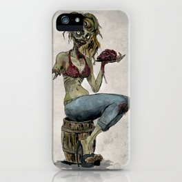 Pinup Zombie Girl iPhone Case