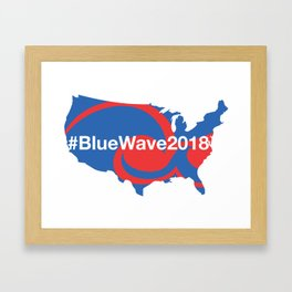 #BlueWave2018 Framed Art Print