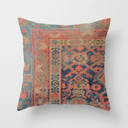 Traditional Antique Rug Throw Pillow