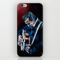 johnny cash iPhone & iPod Skins featuring Johnny Cash by Nicole Kallenberg