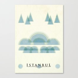 Istanbul Poster Canvas Print