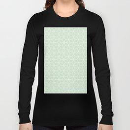 Geometric Hive Mind Pattern - Light Green #395 Long Sleeve T-shirt