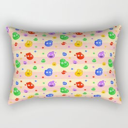 funny bubbles Rectangular Pillow