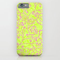 Spring Flowers in Pink and Green Slim Case iPhone 6s