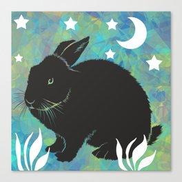The Black Bunny Canvas Print