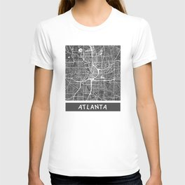 Atlanta map orange T-shirt