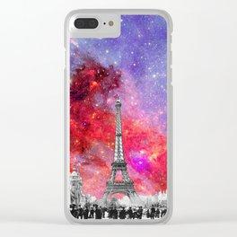 NEBULA VINTAGE PARIS Clear iPhone Case