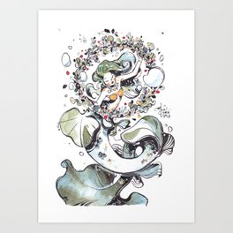 with Boughs of Holly Art Print