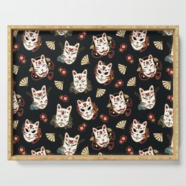 Kitsune Mood Masks Serving Tray