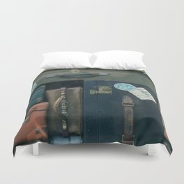 Stack of luggages Duvet Cover