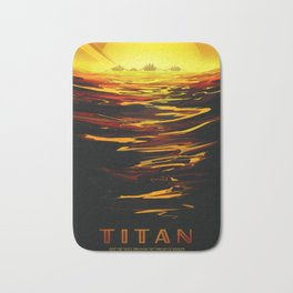 Titan : NASA Retro Solar System Travel Posters Bath Mat