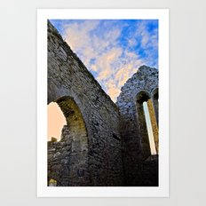 Corcomroe Abbey Arch Art Print