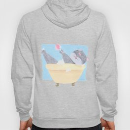 Funny Cat in the Bath tub Hoody