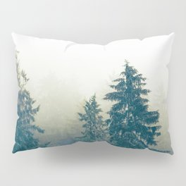 Misty trees. Pillow Sham
