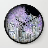 amsterdam Wall Clocks featuring Amsterdam by DuniStudioDesign