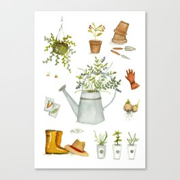 A gardener's toolkit Canvas Print