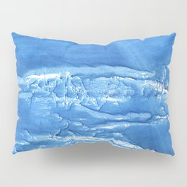 Corn flower blue abstract watercolor painting Pillow Sham