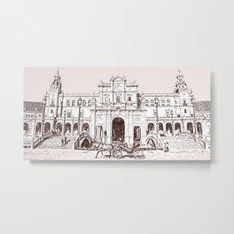 Plaza de Espana, Seville Metal Print
