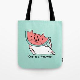 One in a Meowlon Tote Bag