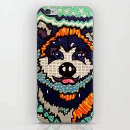 Larry Designer Dog Series Puppy Colorful Bright Huskey Eskimo Sleddog Siberian Chinook Breeds iPhone Skin