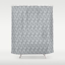 Grey Hounds Shower Curtain