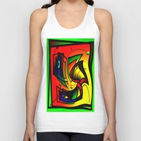 frames Tank Tops featuring Mysterious frames II by Horacio Moschini