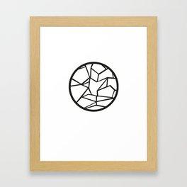 Ice Circle Framed Art Print