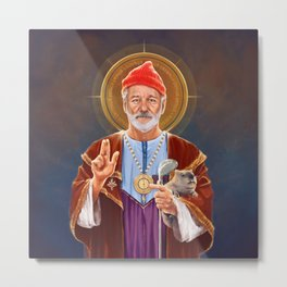Saint Bill of Murray Metal Print