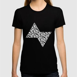 White and Black Polygons T-shirt